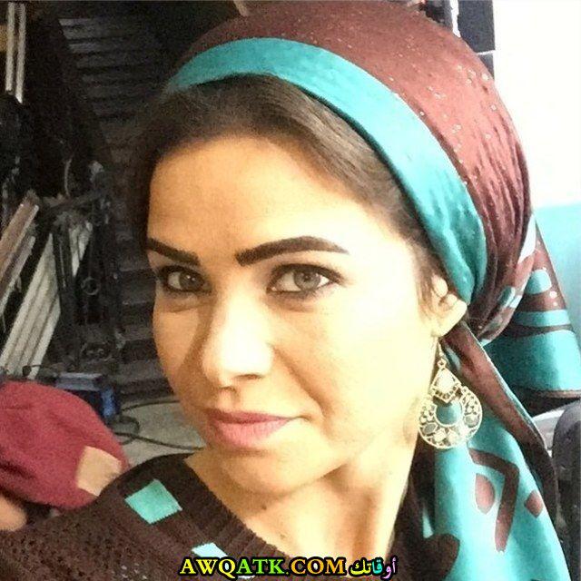 أحدث صورة للفنانة المصرية يسرا اللوزي بالحجاب