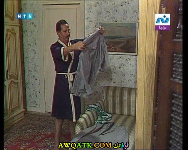 صورة جديدة للفنان أبو بكر عزت داخل مسلسل