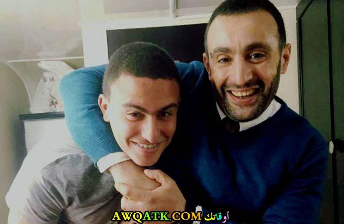 صورة للفنان أحمد السقا مع ابنه