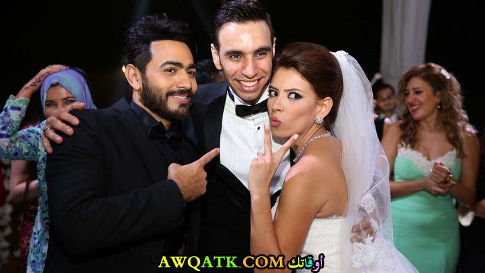 صورة الفنان المصري أحمد الشامي وزوجته