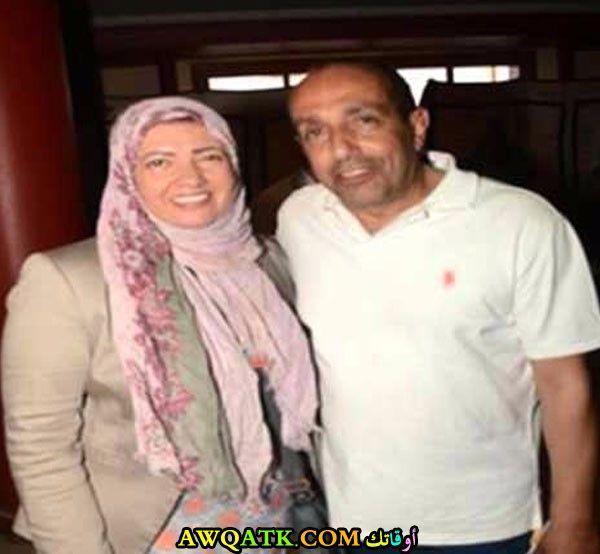 صورة جميلة للفنان الجميل أحمد صيام مع زوجته