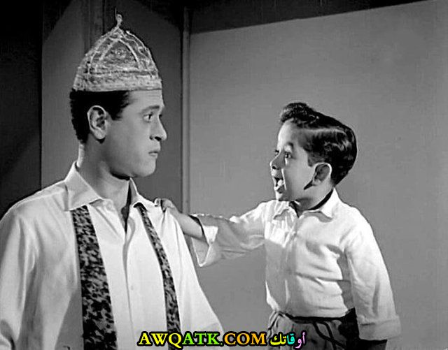 صورة قديمة للممثل أحمد فرحات
