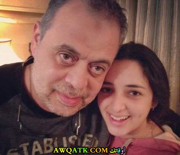 صورة جديدة للفنان أشرف زكي مع بنته