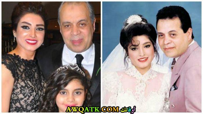 صورة للفنان أشرف زكي مع زوجته