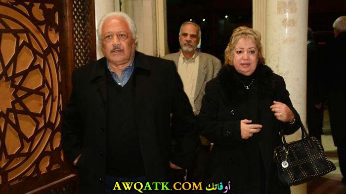صورة عائلية للفنان خالد زكي مع زوجته