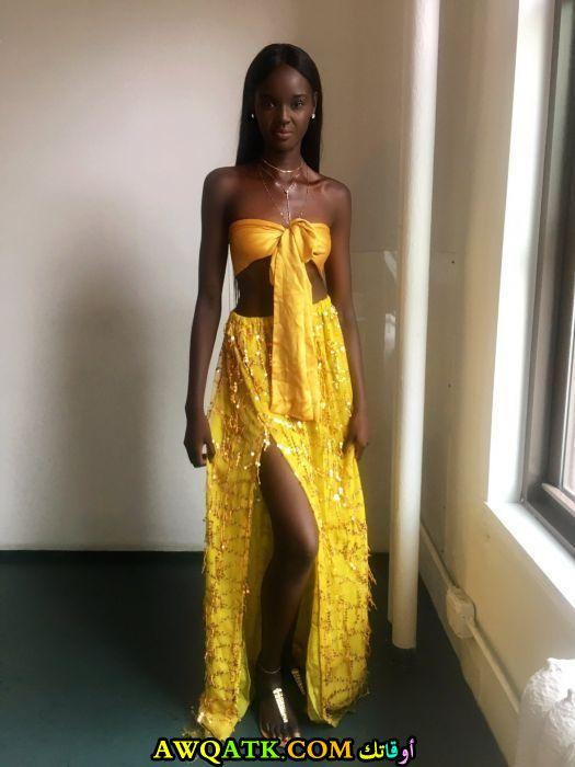 البوم صور ومعلومات عن داكي ثوت أجمل عارضة أزياء سمراء سودانية