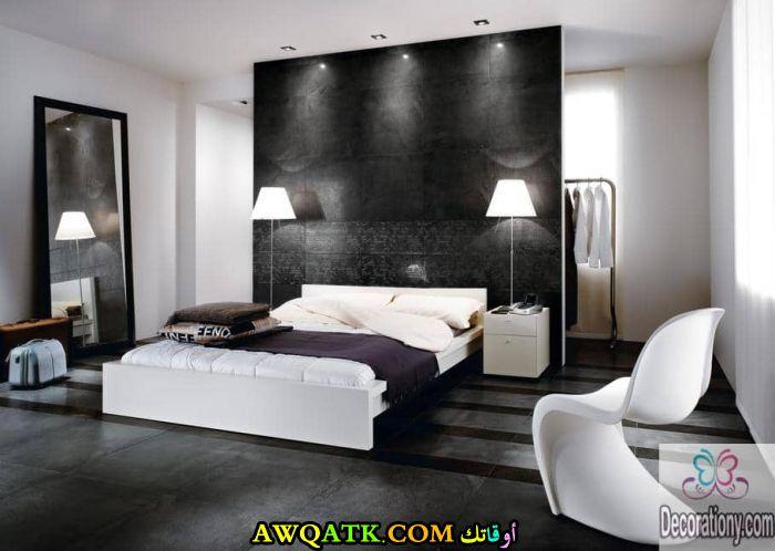 غرفة نوم أسود وأبيض رائعة