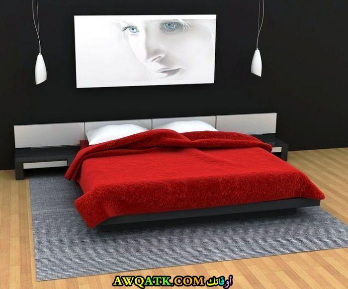 ديكورات غرف نوم روعة باللون الأسود والأحمر