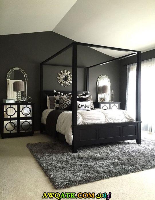 ديكورات غرف نوم أسود جميلة جداً