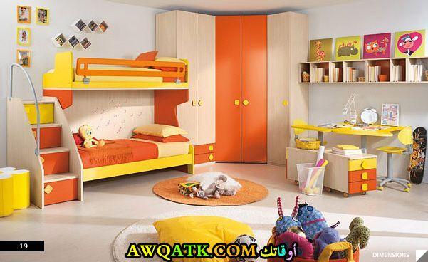 غرفة نوم أطفال حوائط شيك جداً