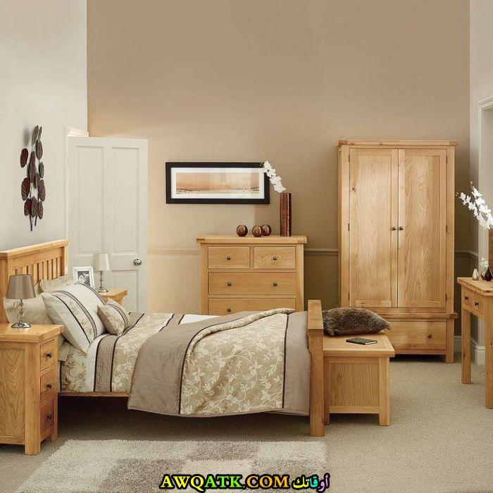 غرفة نوم خشب بلوط كاملة