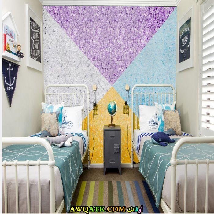 غرفة نوم طلاء تتميز بالوانها الرائعة