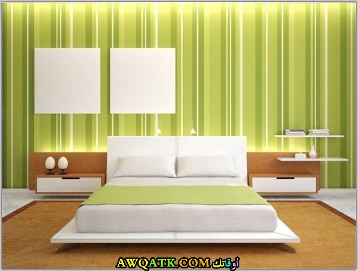 غرفة نوم طلاء باللون التفاحي