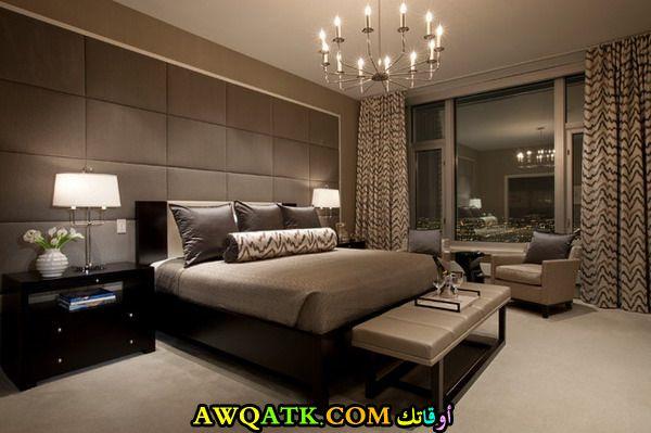غرفة نوم فخمة كبيرة وتناسب الذوق الراقي
