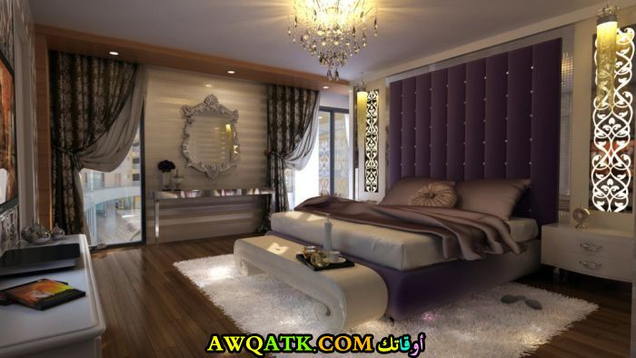 غرفة نوم كبيرة وفخمة جميلة جداً