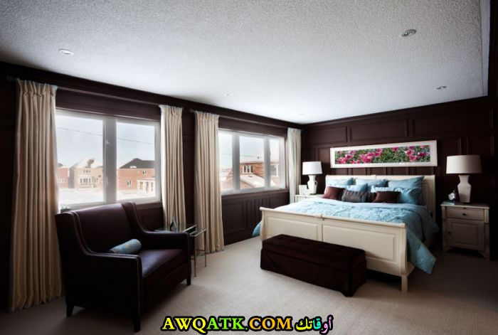 غرفة نوم كبيرة ورائعة