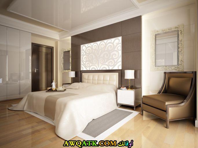 غرفة نوم شيك جداً تناسب المساحات الكبيرة