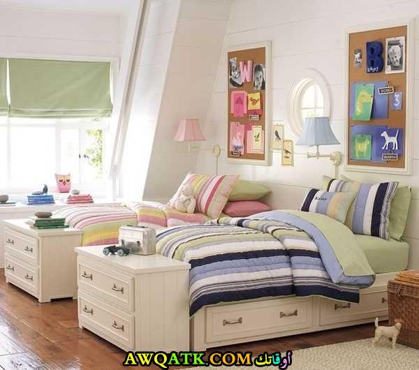 غرفة نوم جميلة جداً ورقيقة