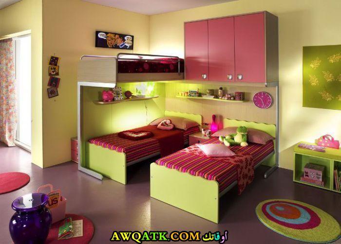 غرفة نوم حلوة جداً لطفلين