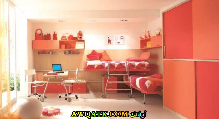 غرفة نوم لطفلين شيك جداً
