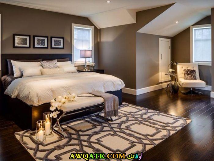 غرفة نوم ماستر باللون الكافيه