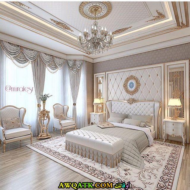 غرفة نوم فخمة وكبيرة جداً