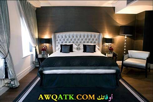 غرفة نوم تصميم فندقي رائع