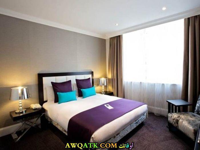 غرفة نوم تصميم فندقي جميل