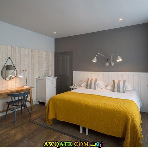 غرفة نوم بنصميم فندقي شيك