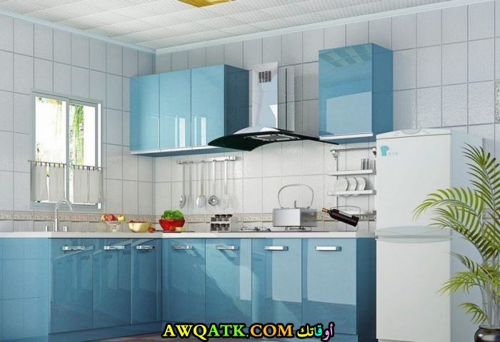 مطبخ جلاس باللون اللبني أنيق وروعة