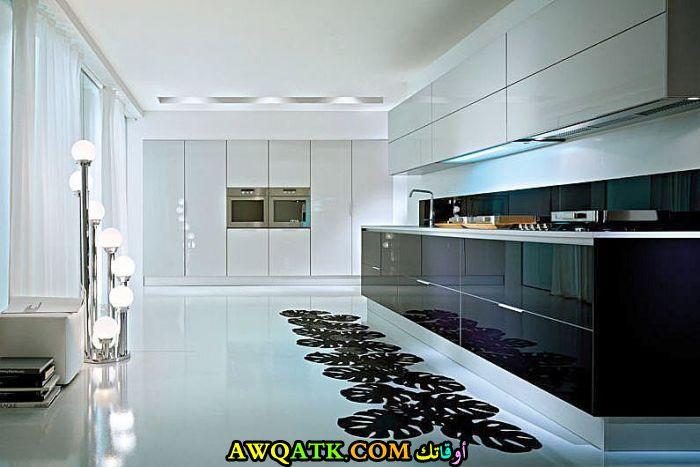 مطبخ جلوسي قمة الجمال والروعة باللون الأبيض والأسود