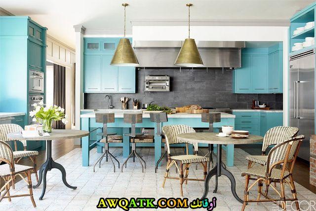 مطبخ باللون الجنزاري قمة في الشياكة