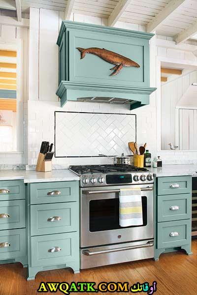 مطبخ روعة وشيك باللون الجنزاري