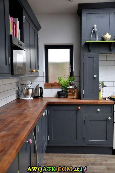 مطبخ خشب يناسب المساحة الصغيرة