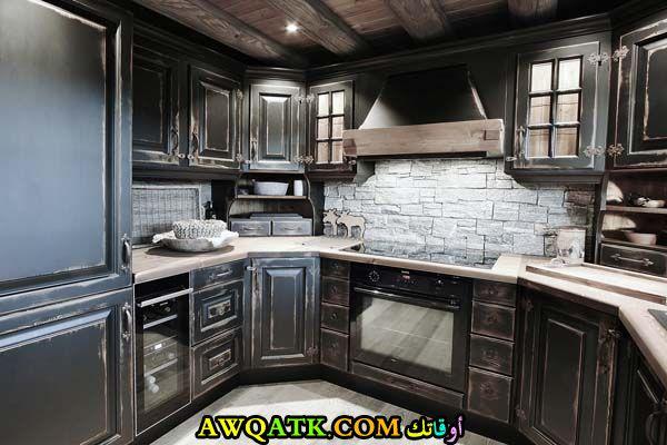 مطبخ دوكو باللون البني شيك جداً