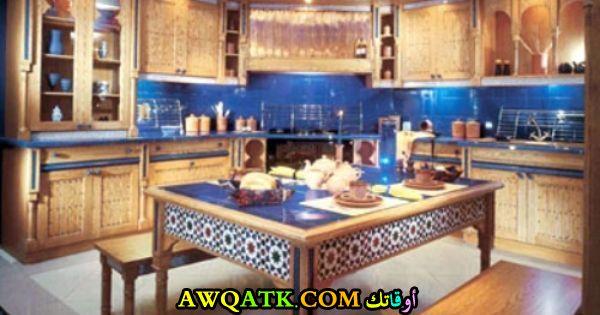 مطبخ خشبي رائع وجميل