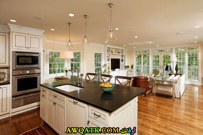 مطبخ ديزاين مفتوح قمة الفخامة والجمال