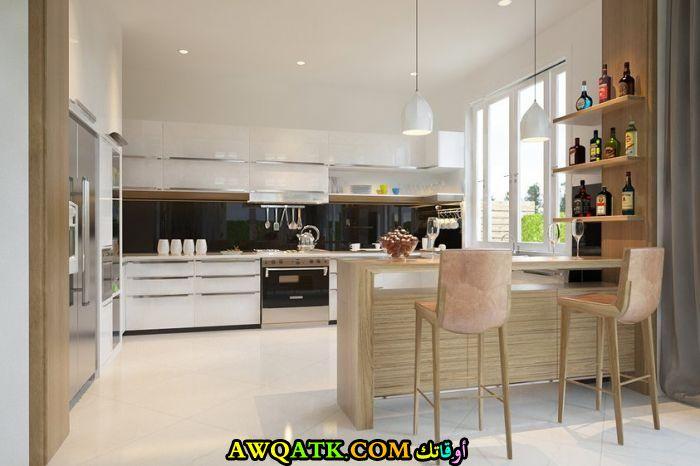 مطبخ ديزاي مفتوح في منتهي الجمال
