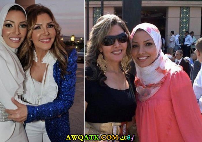 أحلى صورة للفنانة الجميلة نادية مصطفى وابنتها