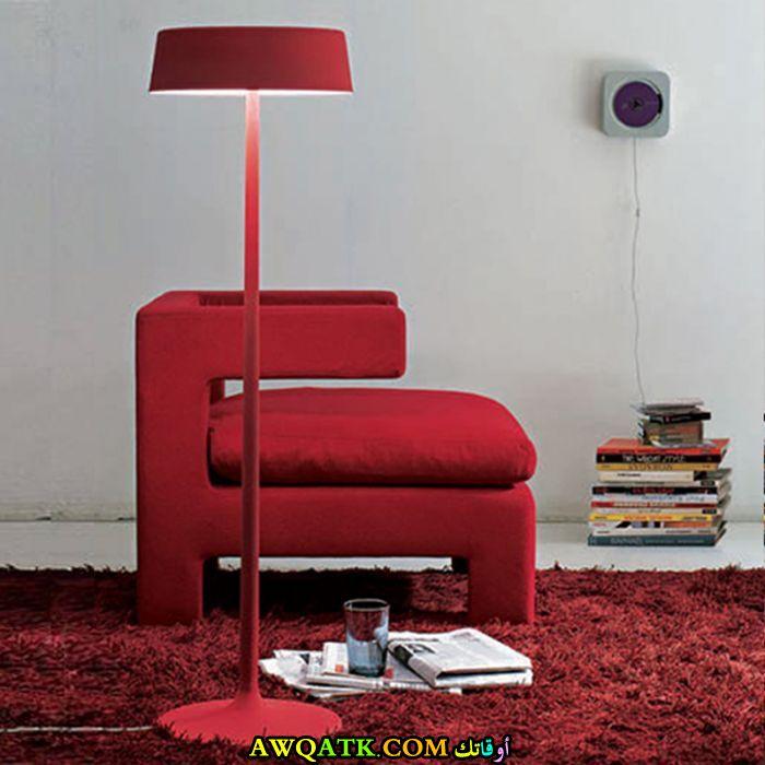 أباجورة أرضية مودرن باللون الأحمر
