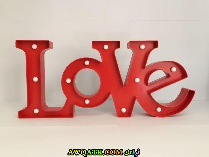 أباجورة حب رومانسية باللون الأحمر