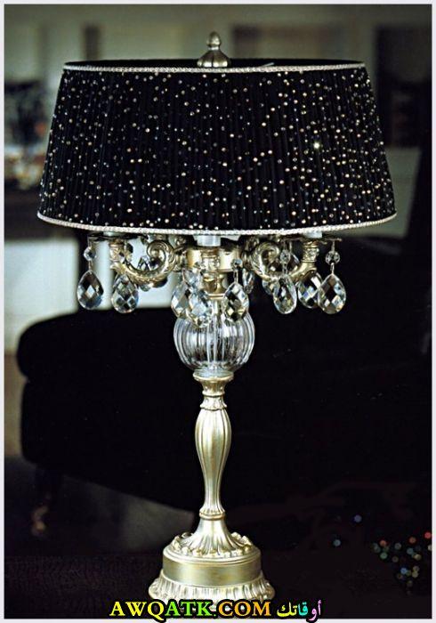 أباجورة ديكور جميلة جداً باللون الأسود الجليتر