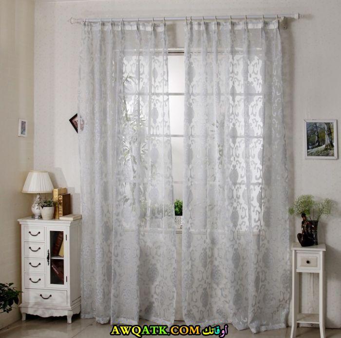ستارة دانتيل لغرفة النوم باللون الأبيض روعة