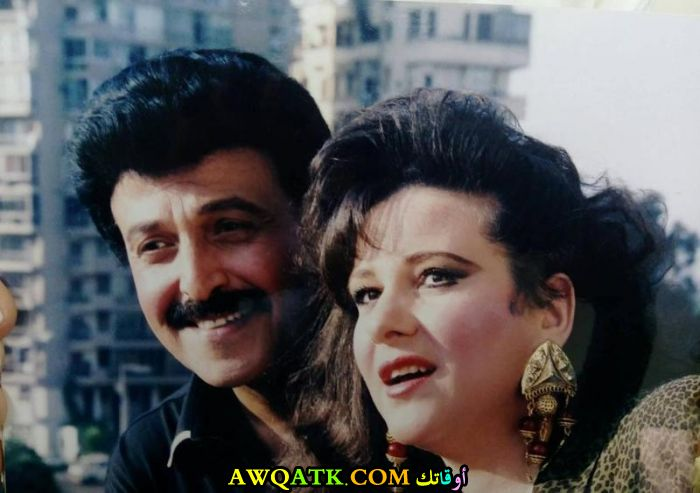 صورة عائلية للفنان سمير غانم مع زوجته دلال عبد العزيز