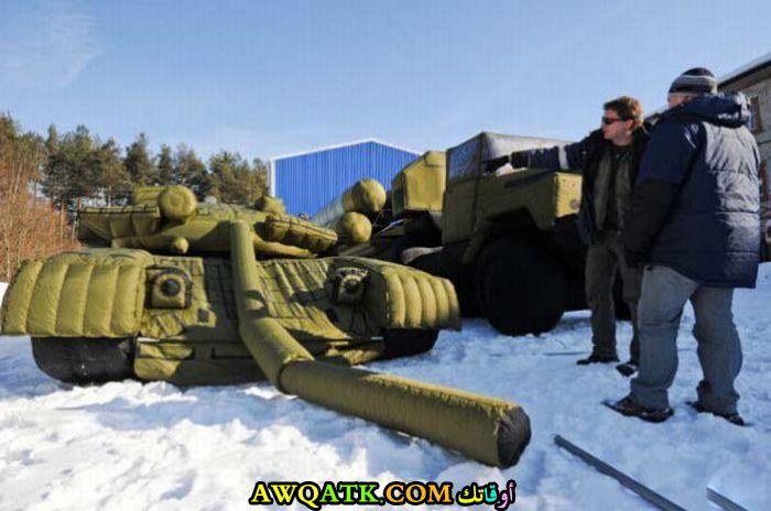 دبابة روسية الشمس طلعت بالصدفة فساحت