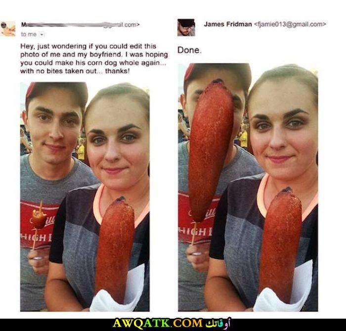 بتطلب منه يخلي صورة صديقها كأنه لم يأكل شيء