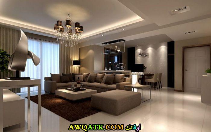 غرفة معيشة باللون البني جديدة 2018