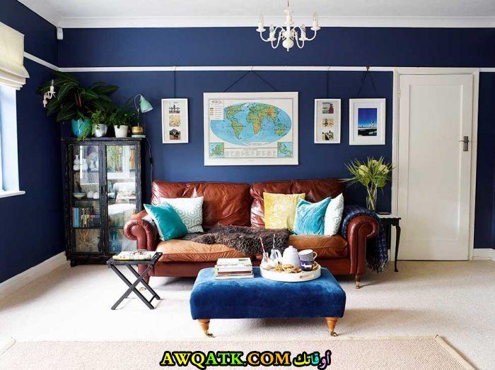 - Navy blue living room color scheme ...