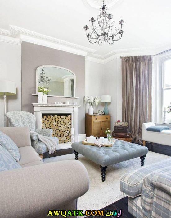 غرفة معيشة بألوان مبهجة في منتهي الجمال