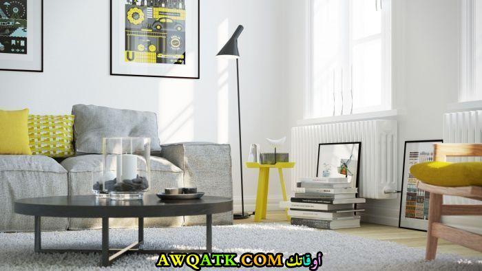 غرفة معيشة بألوان مبهجة جديدة وعصرية